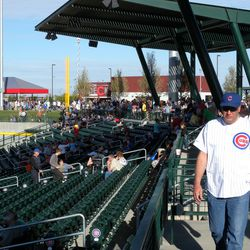 View of seats down the right-field line