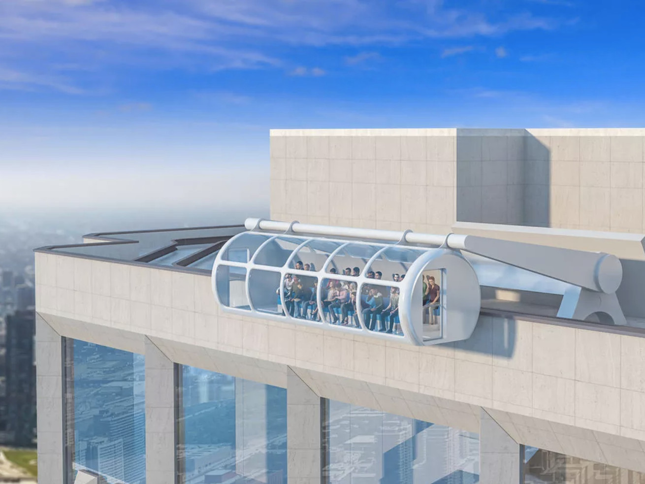 """The """"Sky Summit"""" ride would dangle tourists over the edge of the Aon Center's roof."""