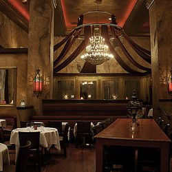 Looking from the bar to the dining room at Red Square.