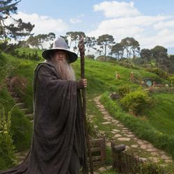 """This film image released by Warner Bros., shows Ian McKellen as Gandalf in a scene from the fantasy adventure """"The Hobbit: An Unexpected Journey."""""""