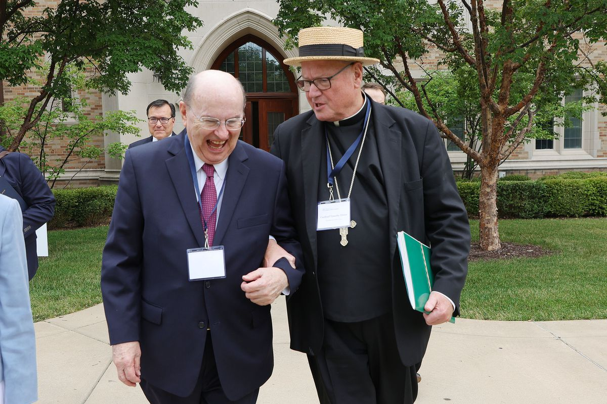 Elder Quentin L. Cook of The Church of Jesus Christ of Latter-day Saints' Quorum of the Twelve Apostles, and Cardinal Timothy Dolan, archbishop of New York.