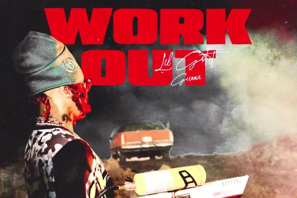 "Lil Gotit's ""Work Out"" artwork"