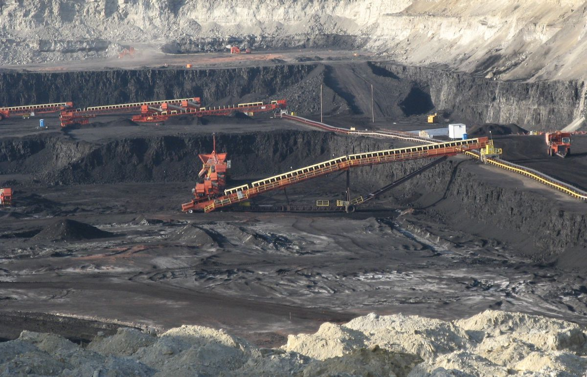 Gillette, Wyoming open strip mine.