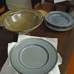 Pottery from Steve Campbell at Three Dots Pots