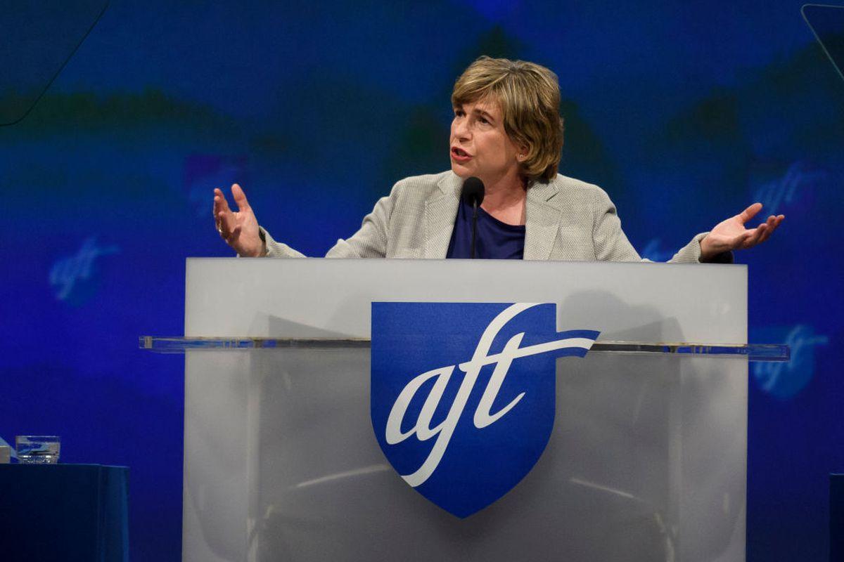 American Federation of Teachers President Randi Weingarten. (Photo by Jeff Swensen/Getty Images)