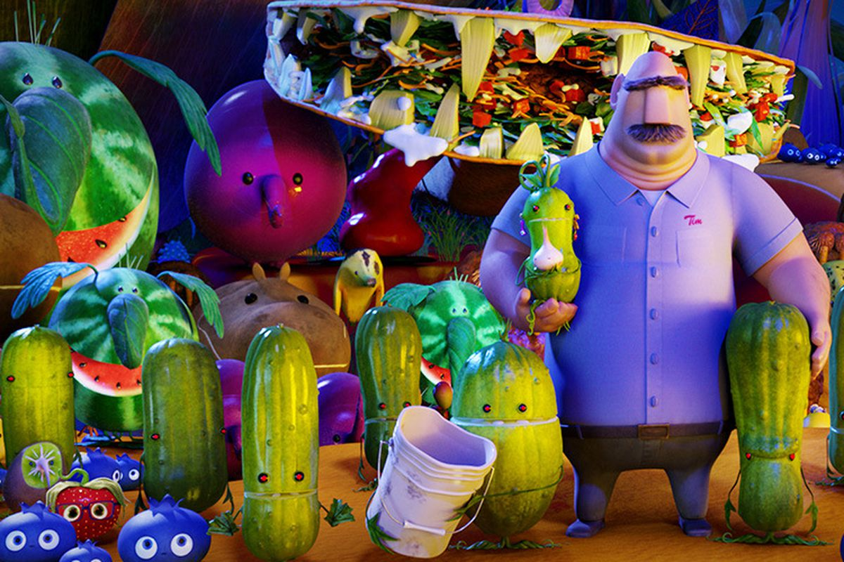 review the surprising meatiness of cloudy with a chance of