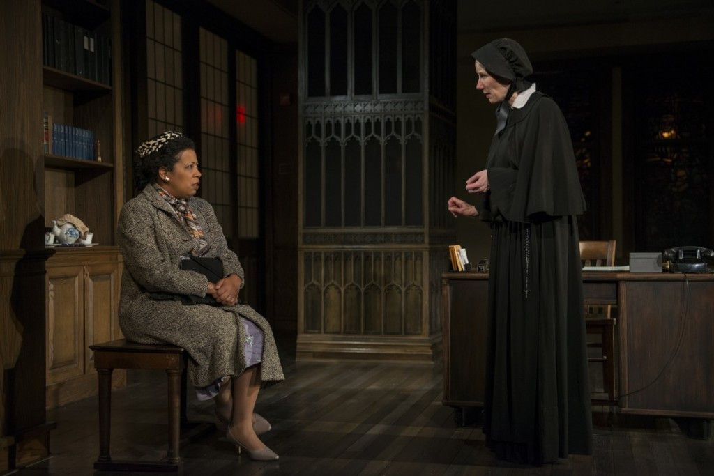 """Ann Joseph (left) and Karen Janes Woditsch in """"Doubt: A Parable,"""" at Writers Theatre. (Photo: Michael Brosilow)"""