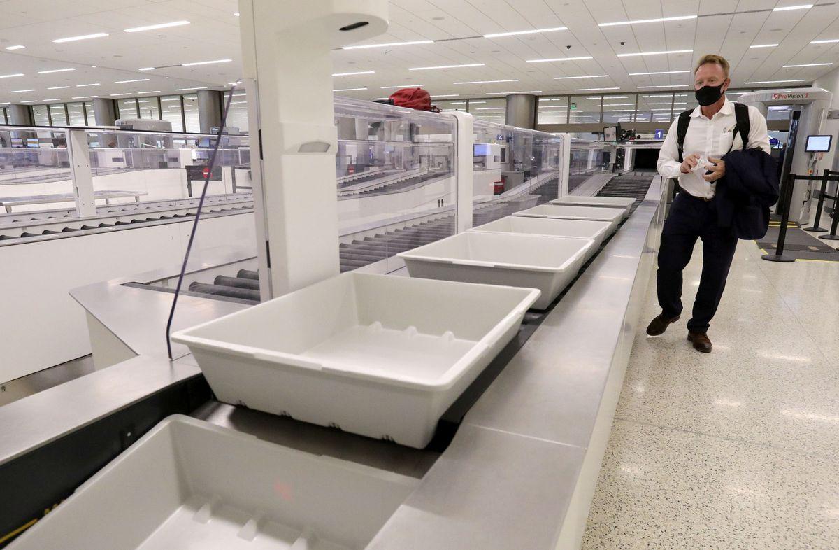 The Transportation Security AdministrationPrechecksecurity lane at the new Salt Lake City International Airport