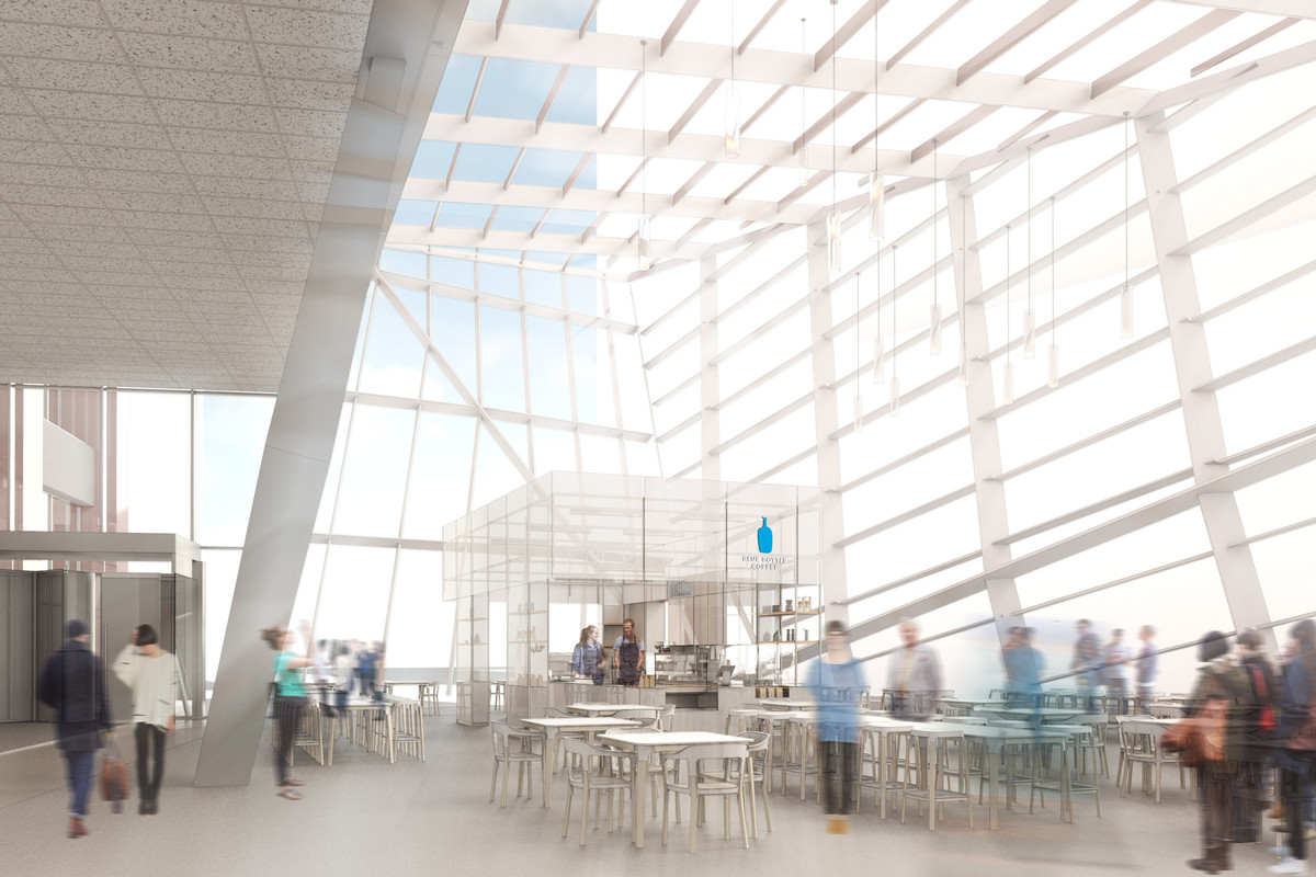 Rendering of Blue Bottle at the Exchange