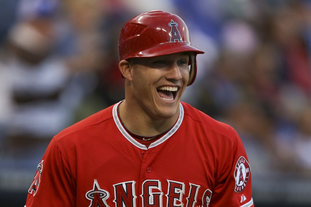 """""""You're going to trade me?!"""" Mike Trout laughed as he was described this article."""