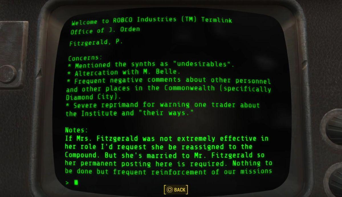 Fallout 4: Human Error walkthrough - Polygon