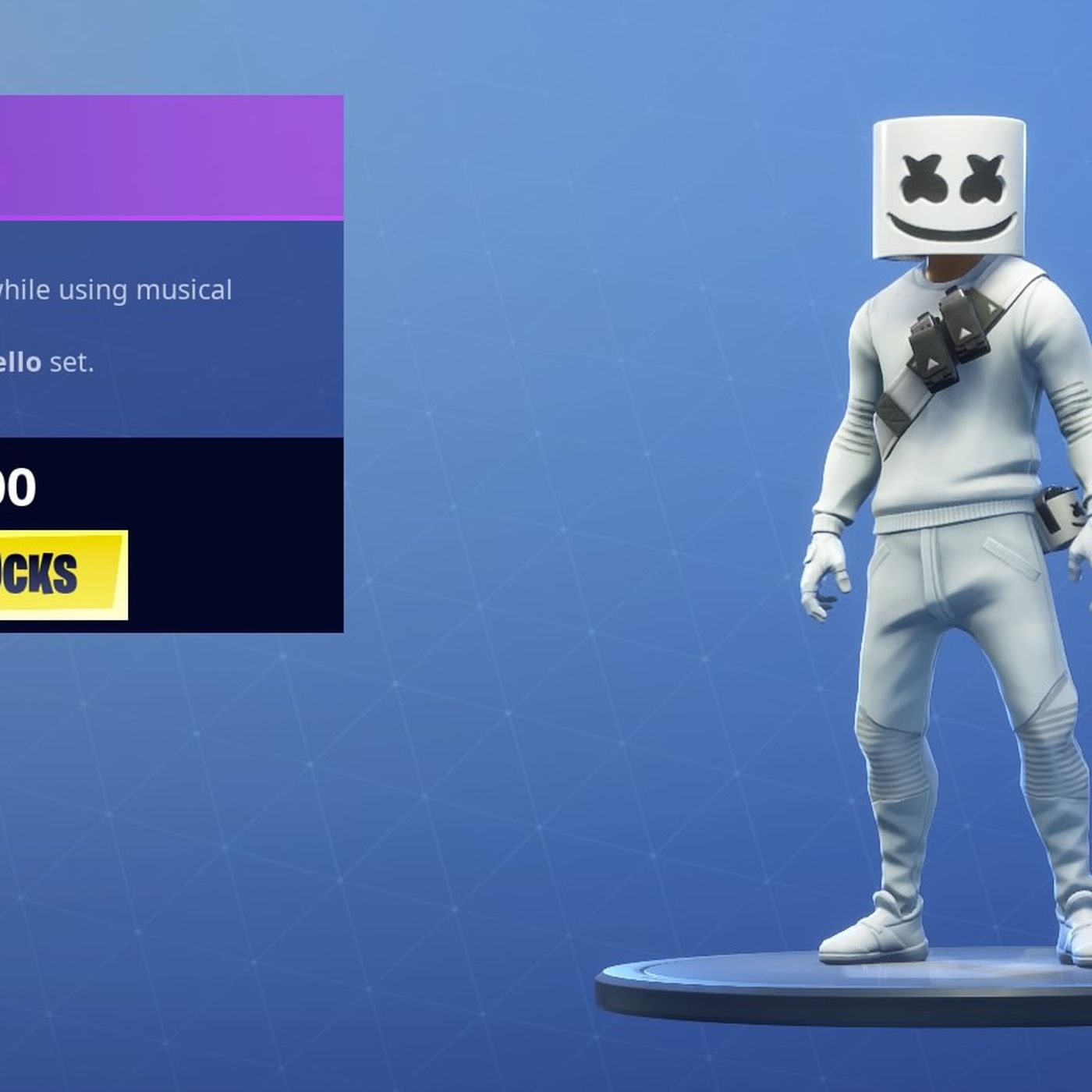 how to watch marshmello s big fortnite concert today - where is skin in fortnite