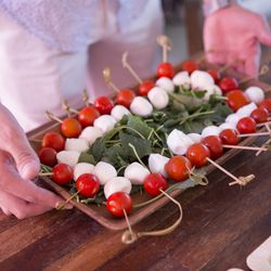 We couldn't stop popping Crateful's Caprese skewers.