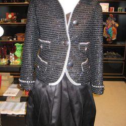 BG exclusive Marc Jacobs tweed jacket and cocktail dress, $1,800-$2,500