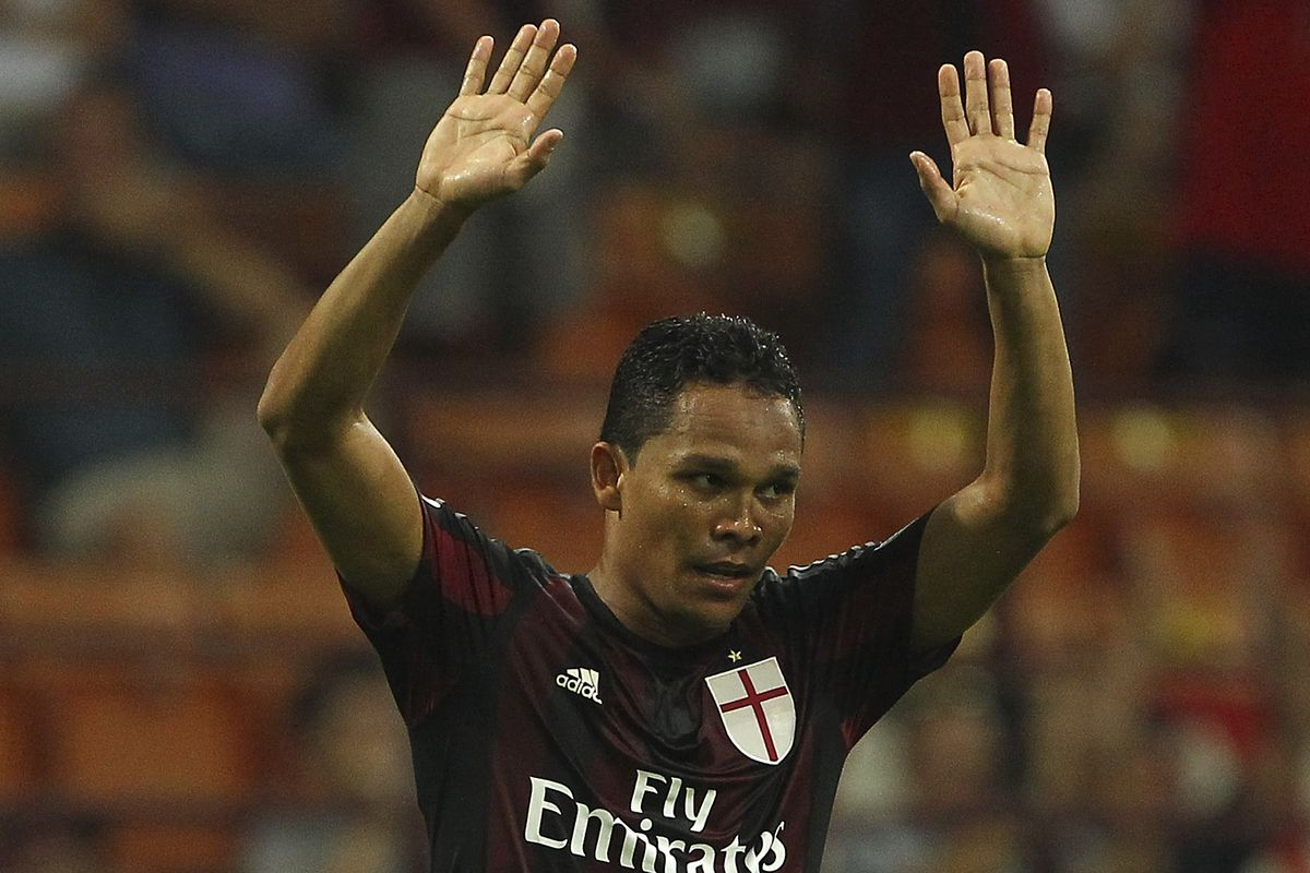 Carlos Bacca netted his first goal for Milan Saturday against Empoli, beating two defenders on the counter attack in the first half.