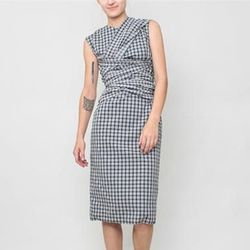 "<b>Rachel Comey</b> Knave Dress in Optical Plaid, <a href=""http://shop.creaturesofcomfort.us/rachel-comey-knave-dress-optical-plaid.aspx"">$635</a> at Creatures of Comfort"