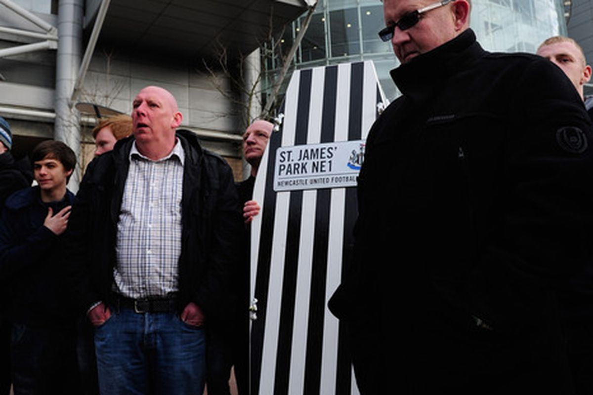 Here's hoping for more glum faces outside the Sports Direct Arena come F/T on Sunday afternoon