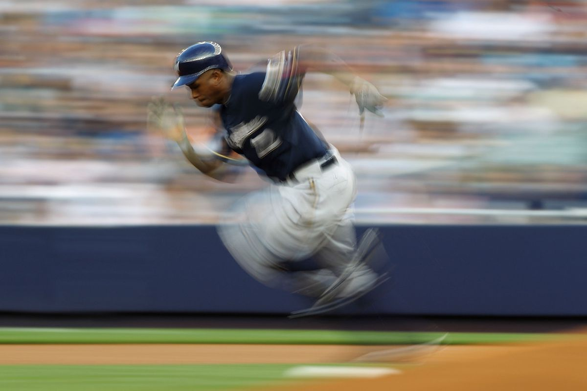 Maybe Nyjer should do more of this Tasmanian devil stuff on the basepaths.