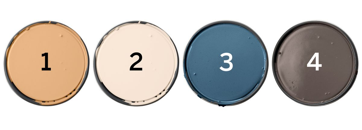 Behr Paints: Classic Gold; Polished Pearl; English Channel; Sweet Molasses