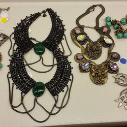 Bib necklaces, priced by color