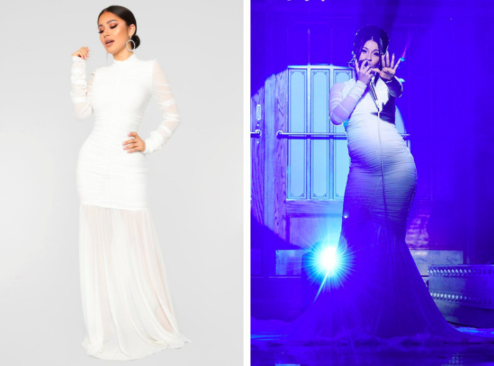 cc509835e53 Fashion Nova copied the dress Cardi B wore on SNL and sells it alongside  photos of the singer. Fashion Nova