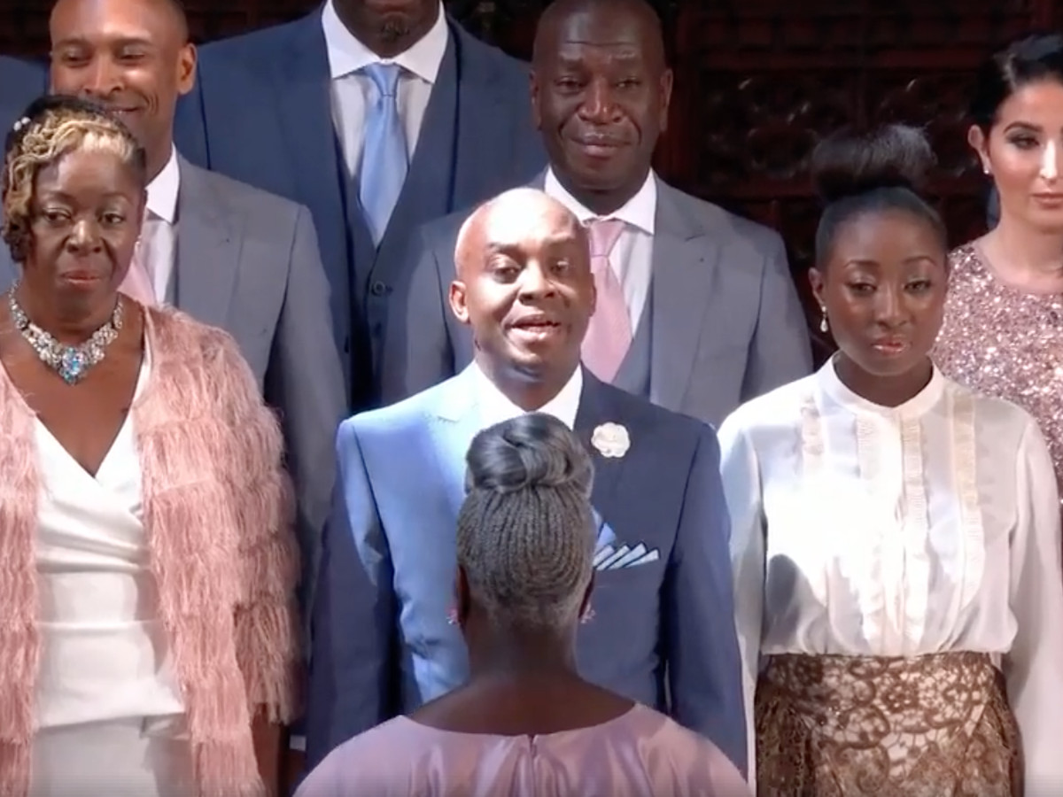"Royal wedding: Karen Gibson and The Kingdom Choir performs ""Stand By Me"" A  breathtaking, emotional performance for Meghan Markle and Prince Harry."