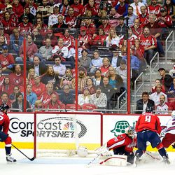 Ovechkin Defends Against Stepan