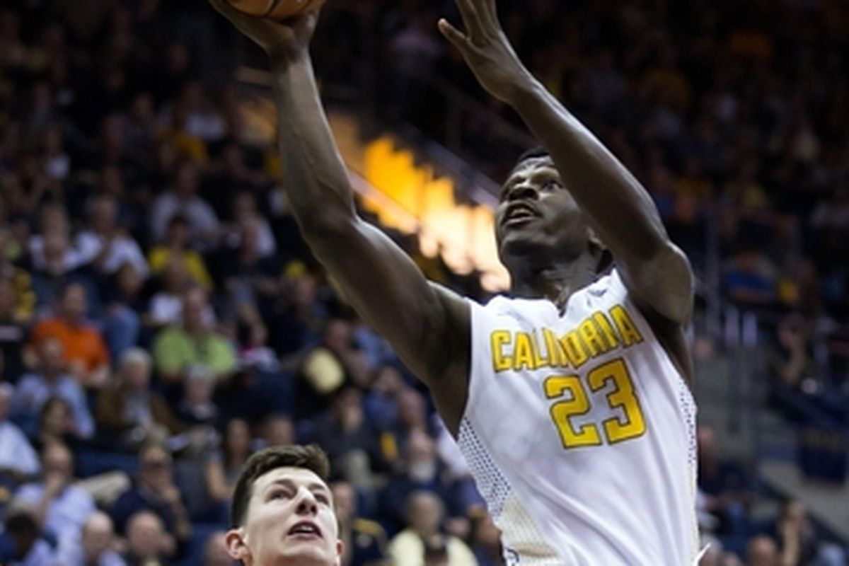 California's Jabari Bird blows by Oregon State's Drew Eubanks for 2 of his game high 23 points, and the Bears would blow by the Beavers similarly.
