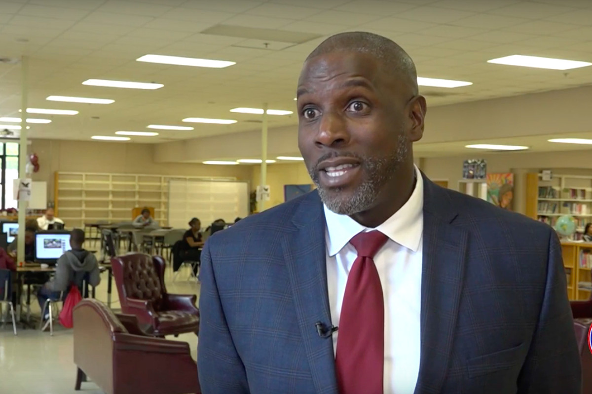 Here, Kingsbury High School principal Terry Ross is featured in a district video on student-based budgeting.
