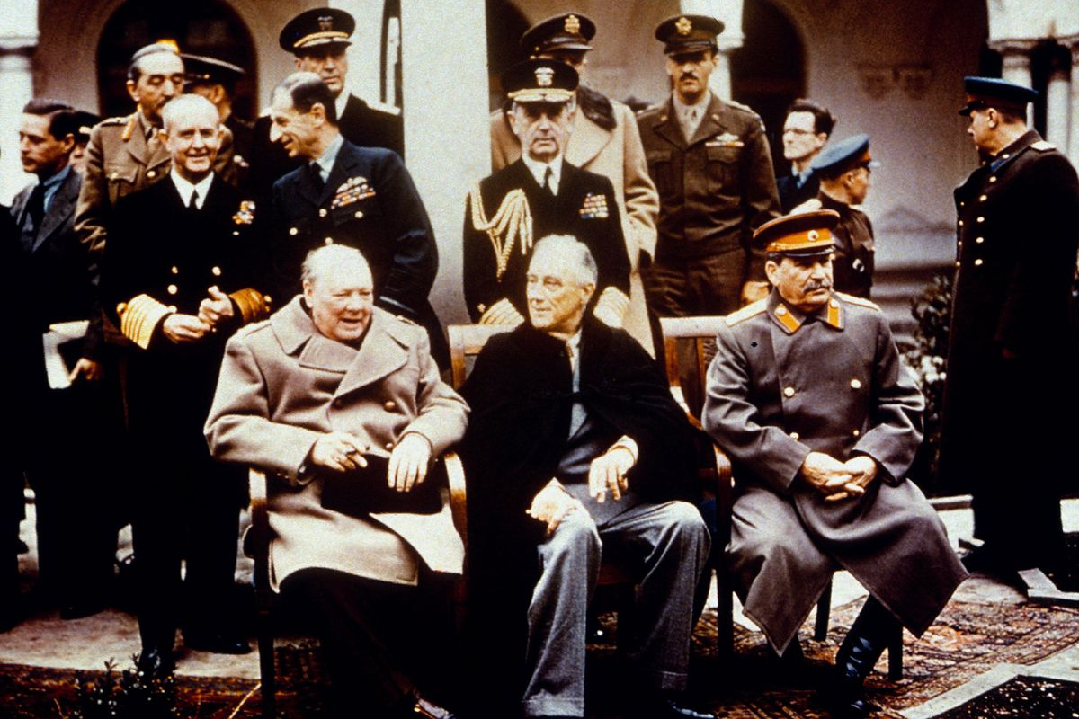 Before the Yalta photo opportunity.