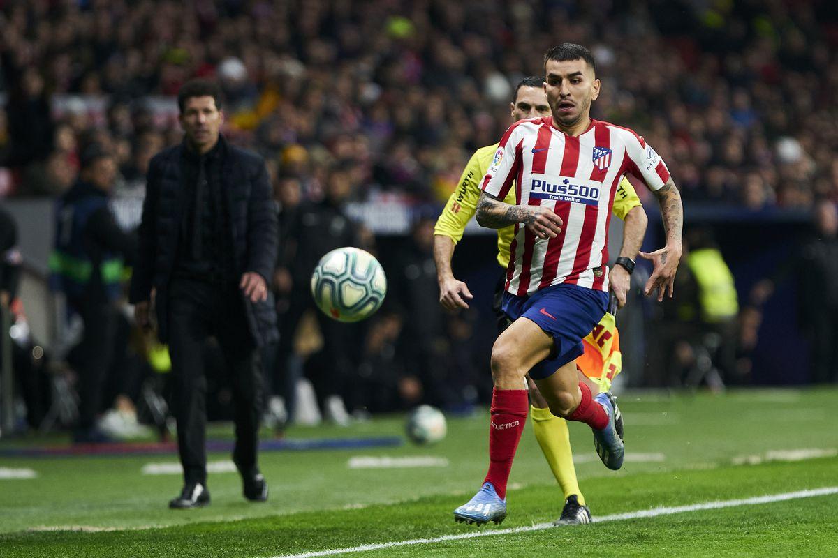 Angel Martin Correa of Atletico de Madrid in action during...