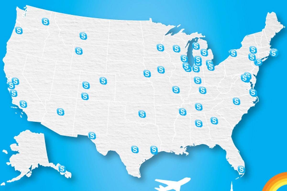 Skype provides free Wi-Fi in over 50 US airports for the ...