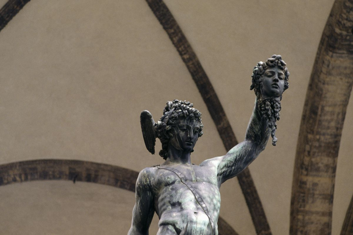 Perseus with head of Medusa statue, Florence