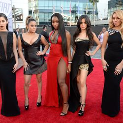 The Girl Group (2015): The members of Fifth Harmony chose a mix of looks from Michael Costello, Vera Wang, and Philipp Plein for the American Music Awards.