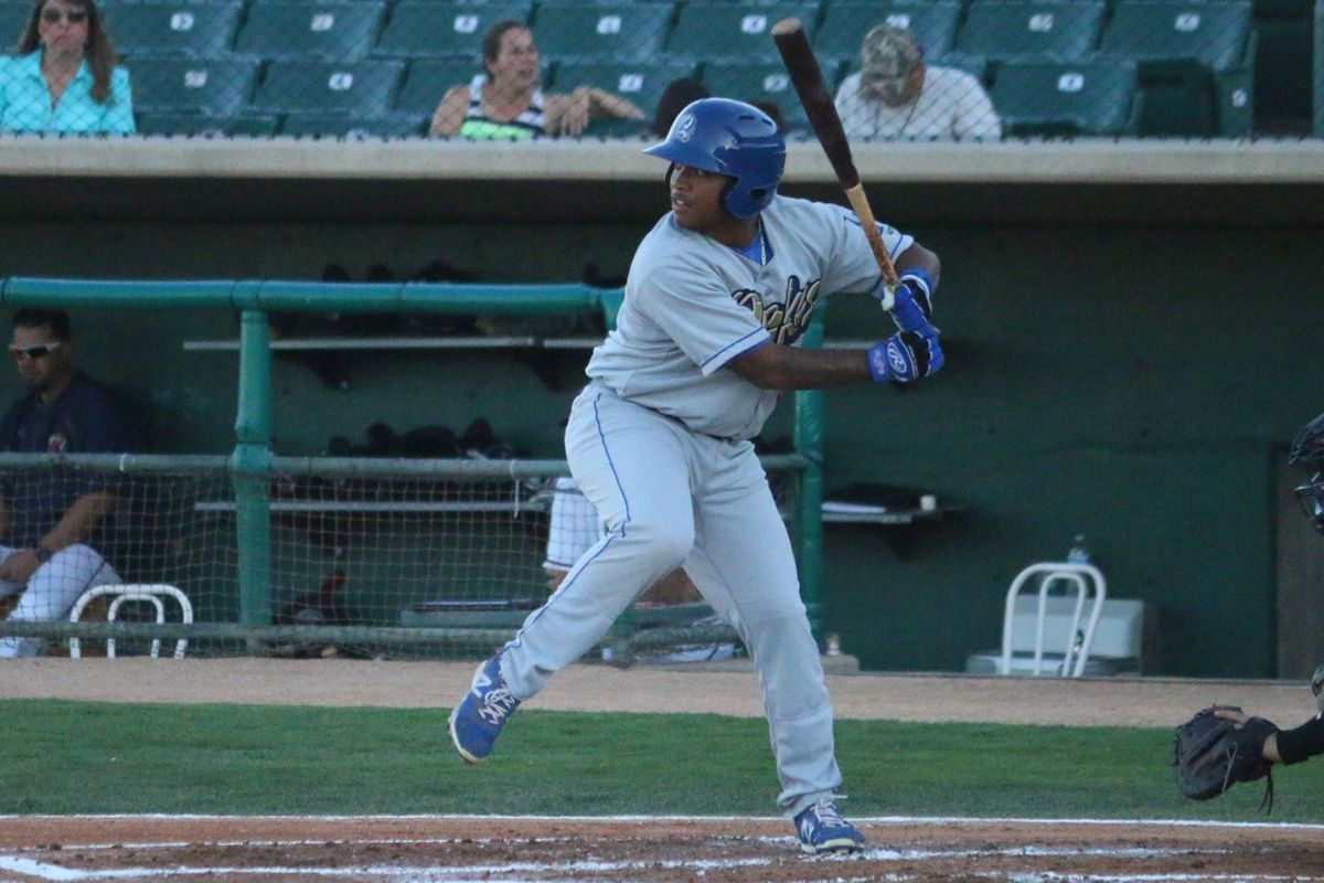 Willie Calhoun hit .329/.390/.548 with seven doubles and three home runs in 20 games after joining Class-A Rancho Cucamonga.