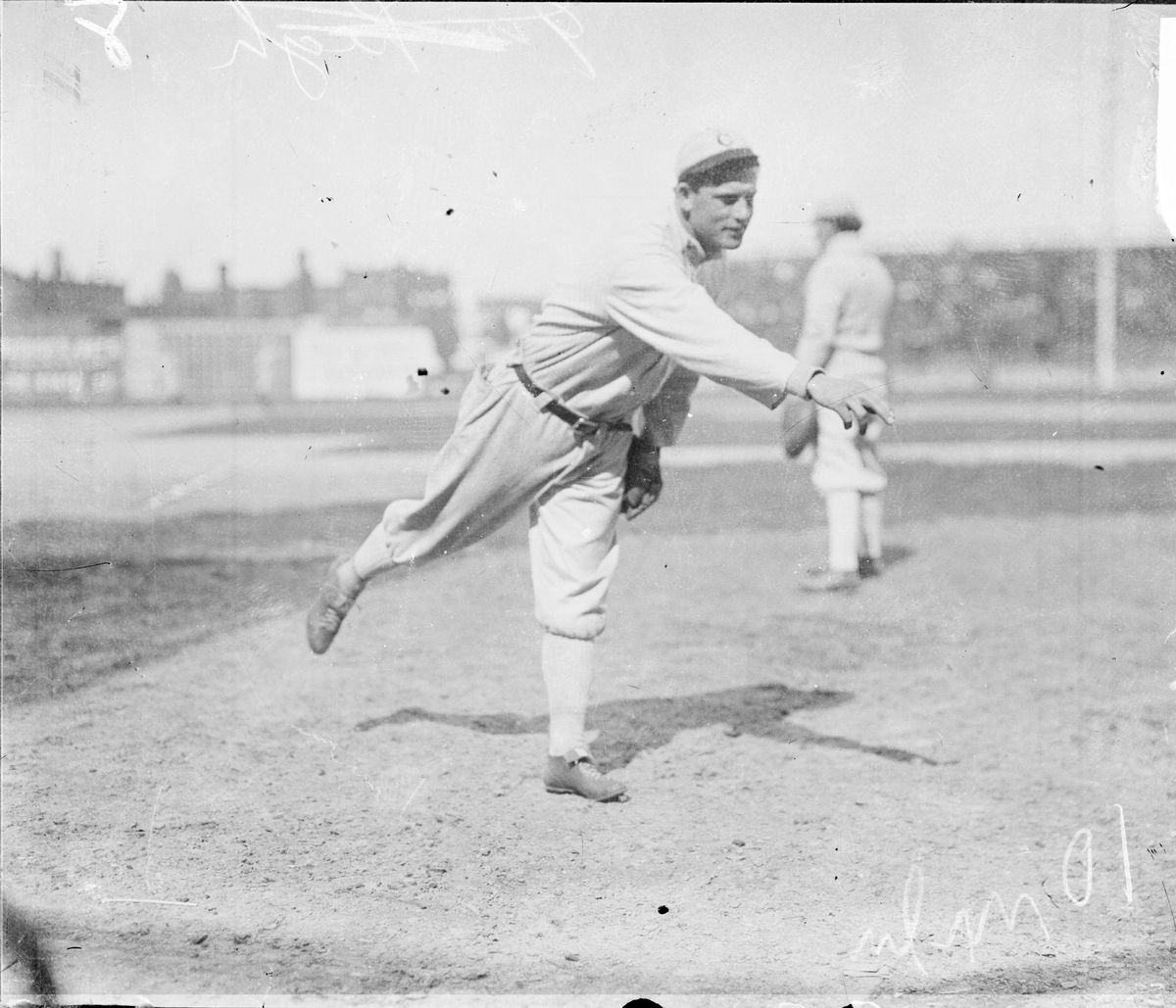 Ed Walsh Warms Up For The Sox