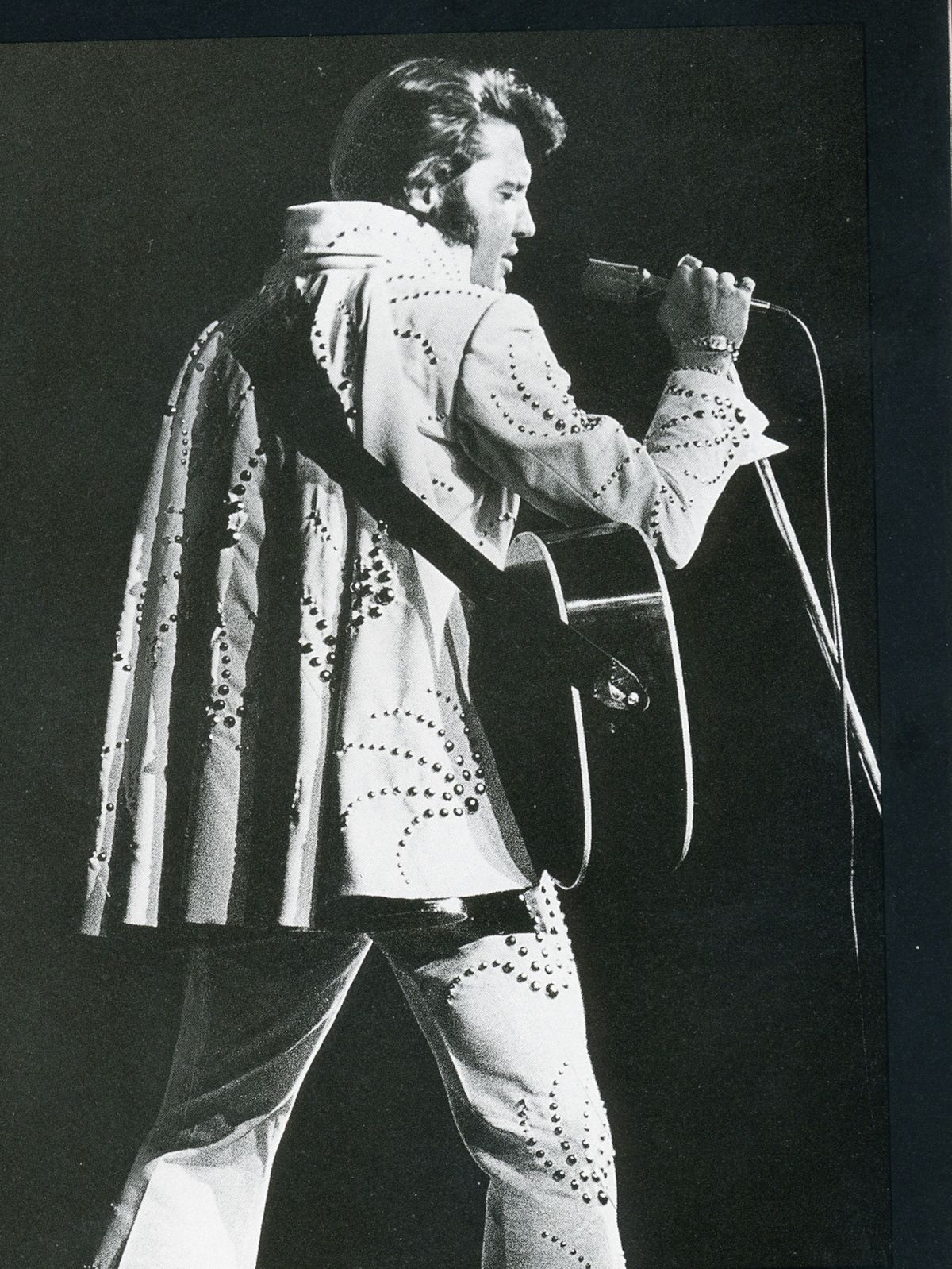 """Elvis Presley in 1976, from """"The Stadium,"""" a history of the Chicago Stadium by Don Hayner and Tom McNamee. 