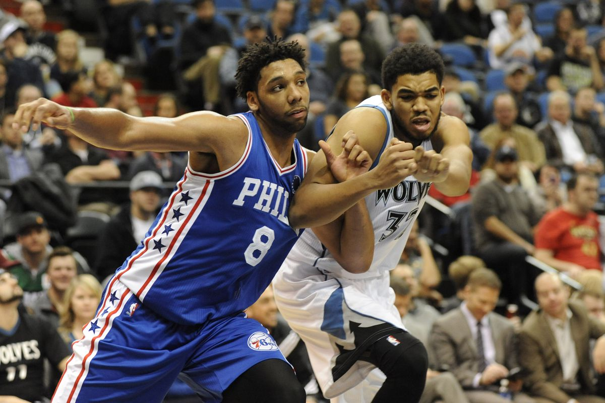 Will Jahlil Okafor (left) channel his bar brawl aggression well tonight?