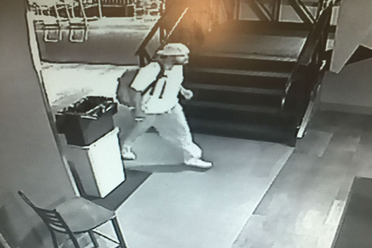 Security footage of the man underFire management considers a suspect in three recent thefts