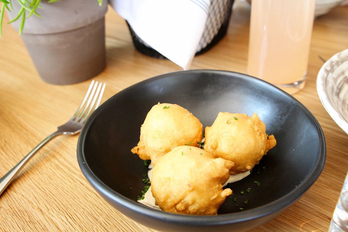 Crab beignets at Rosedale Kitchen and Bar