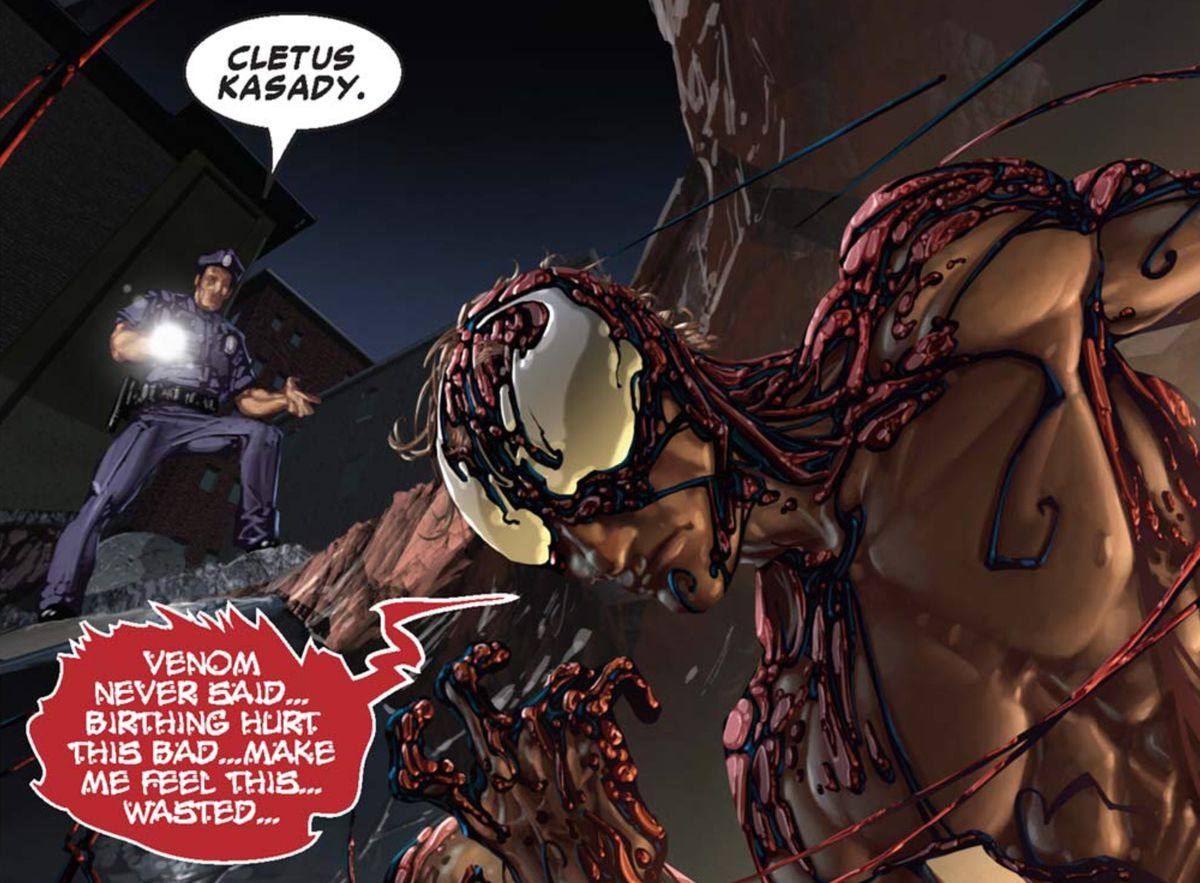 Venom Vs. Carnage #1 (2004) carnage acting pissed off