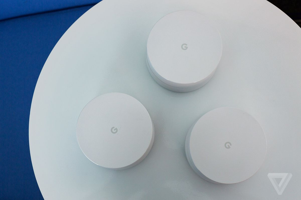 The Google Wifi routers are little white pucks you can scatter