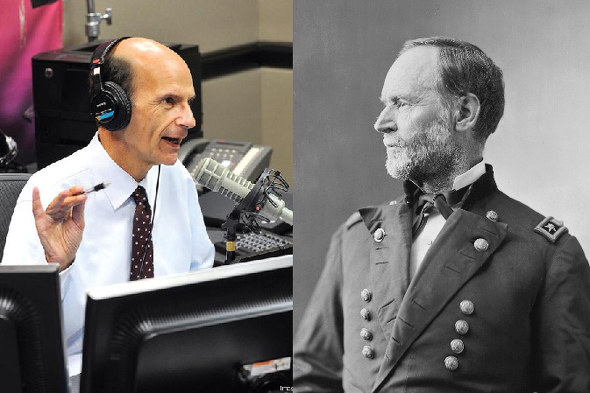 Our own General Sherman graciously agreed to meet with Mr. Finnebaum, without holding any matches--or Atlanta.