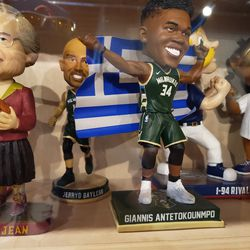 The famous Sister Jean bobblehead, and friends