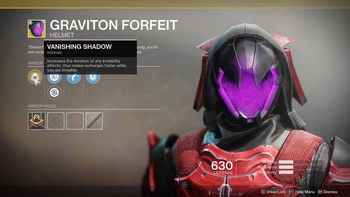 Graviton Forfeit Exotic Destiny 2