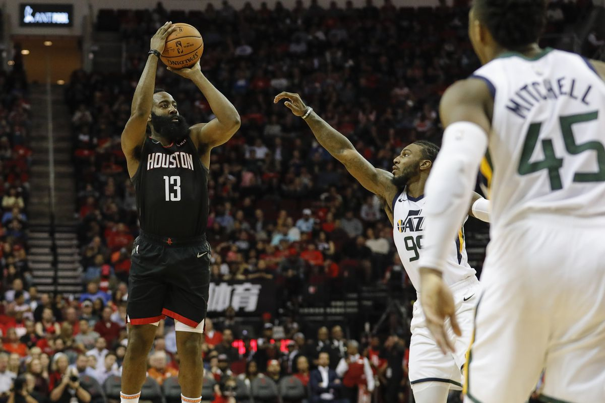 e25fa31568ab 2019 NBA Playoffs  How can the Utah Jazz slow down James Harden  Here s a  few ideas.