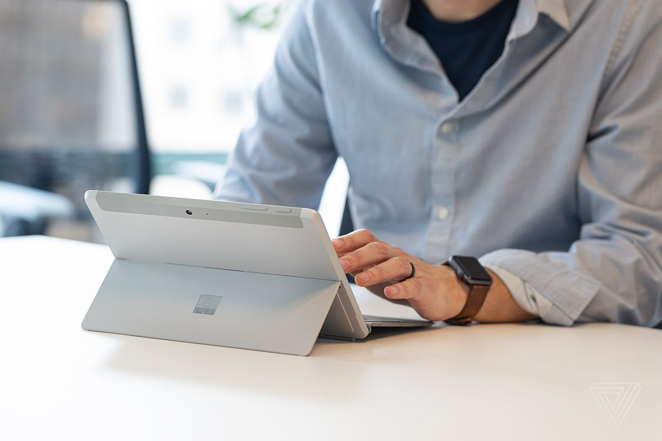 the tiny microsoft surface go is available now and it s an overachiever