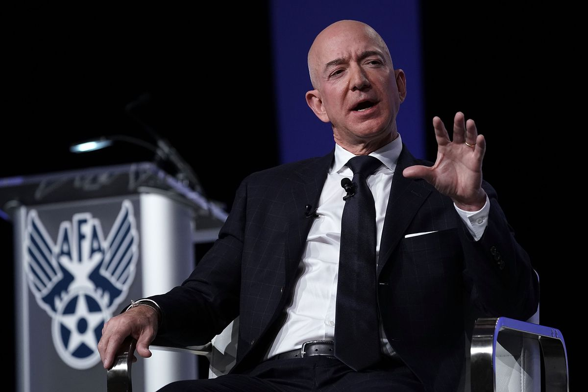 Amazon CEO And Blue Origin Founder Jeff Bezos Speaks At Air Force Association Air, Space And Cyber Conference