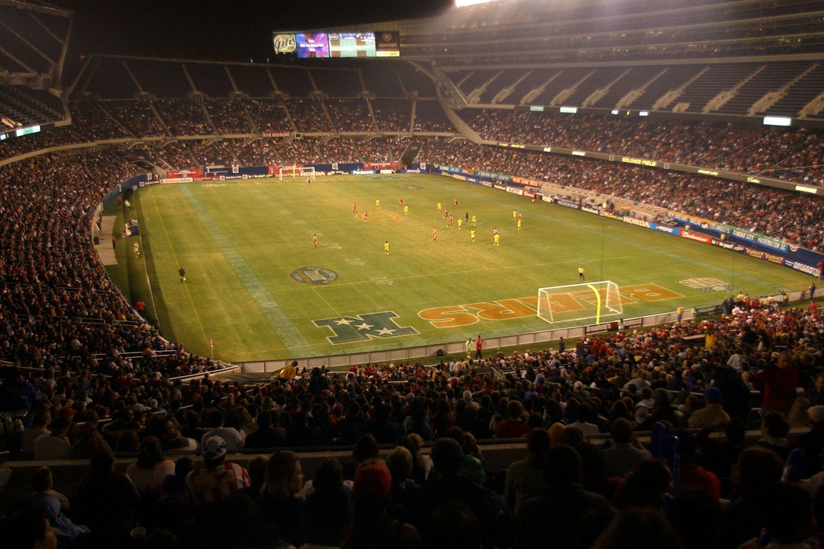 Soldier Field during game