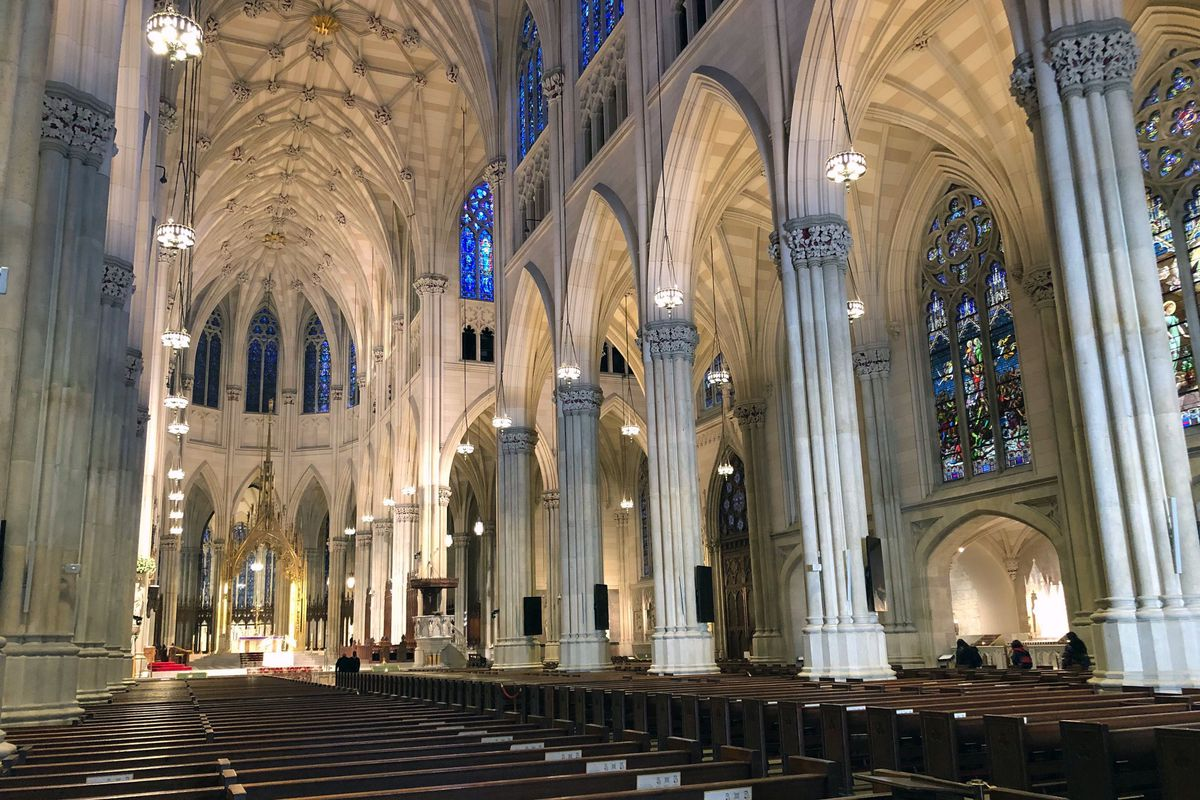 Canceled Mass left pews empty at St. Patrick's Cathedral  on Sunday, March 15.